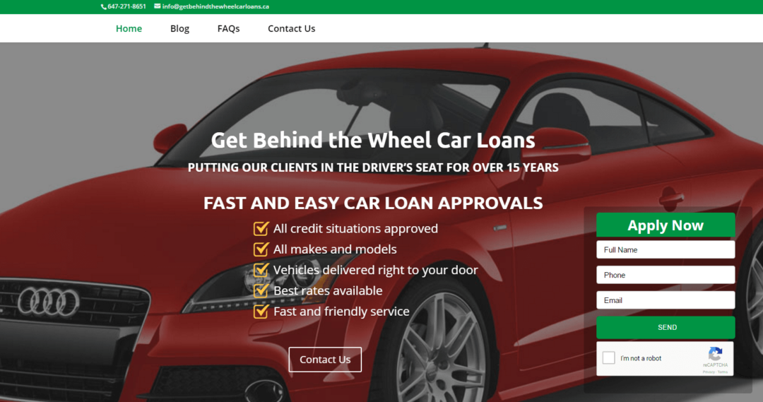 Get Behind the Wheel Car Loans